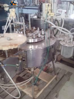 Máquina de llenado de frascos y matraces con tapón de