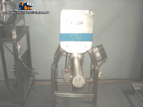 Batidora industrial en acero inoxidable con tornillo y VFD