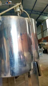 Tanque de acero inoxidable con camisa simple y mezclador