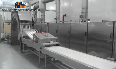 Fabricación continua horno industrial cono/ice maker crema biju Haas