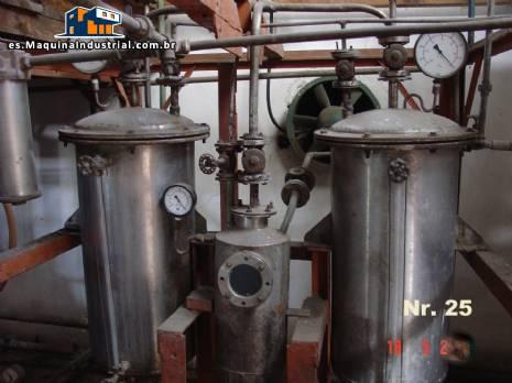 Columna de destilación para el reciclaje de acrílico